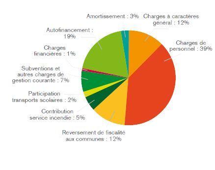 Budget 2015 graphique - Dépenses de fonctionnement