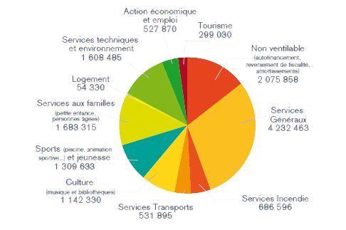 Budget 2015 graphique - Par compétence Depenses