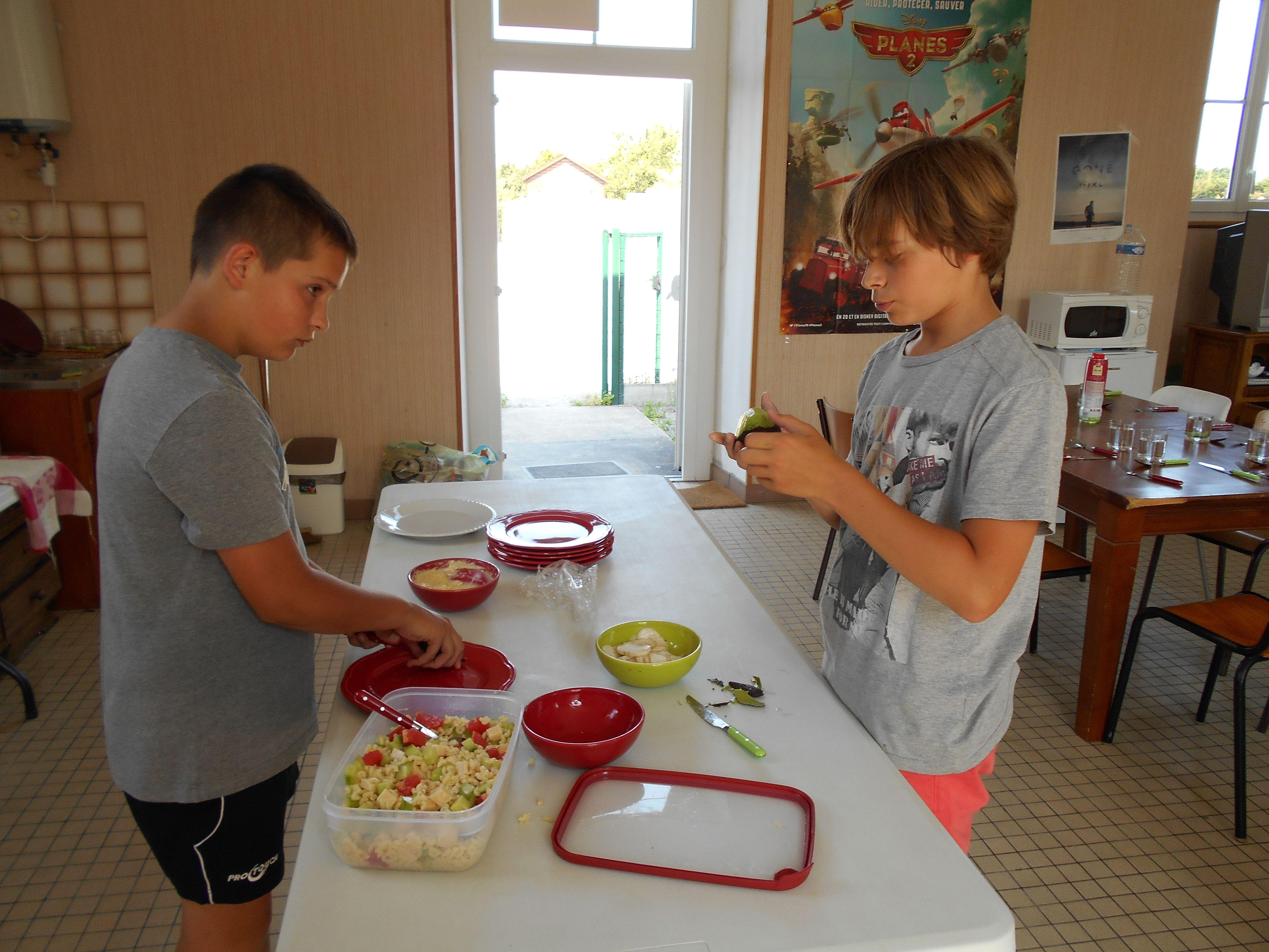 Anim Crossac - Préparation du repas