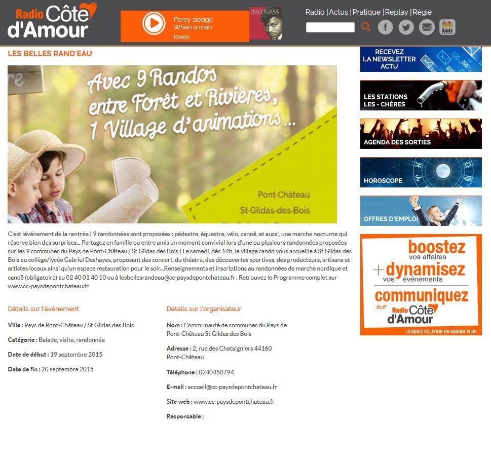 Cote d'amour Site BELLES RANDEAU