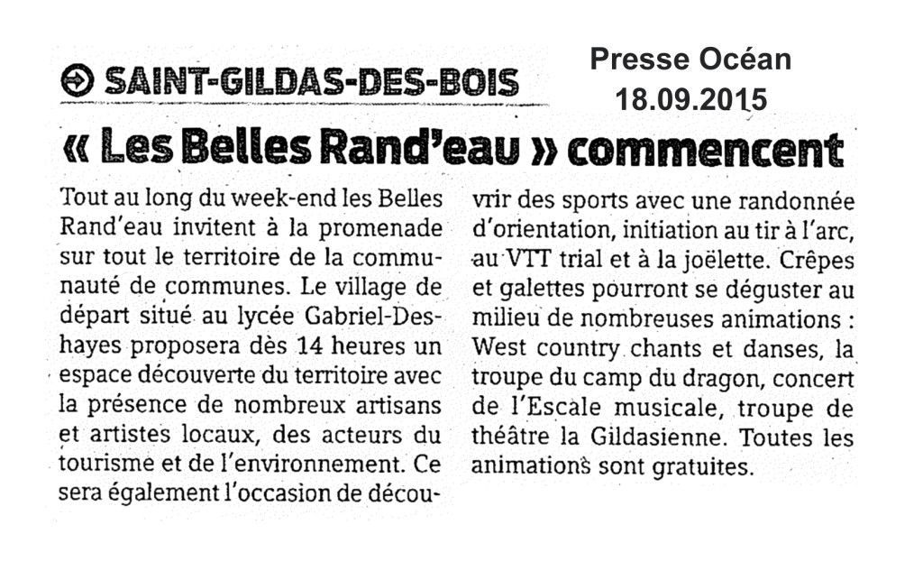 PRESSE - Belles rand'eau PO 18.9 St Gildas