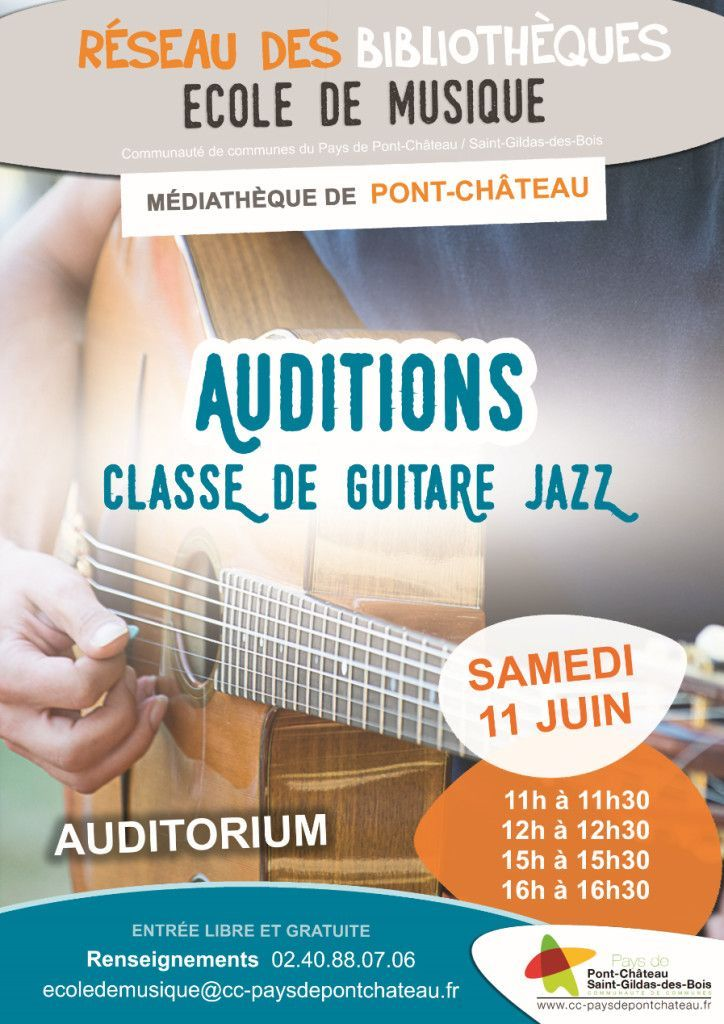 Affiche auditions JAZZ Ecole de musique