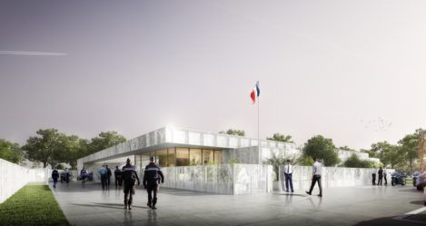 Nouvelle gendarmerie à Pont-Château // Pose de la première pierre